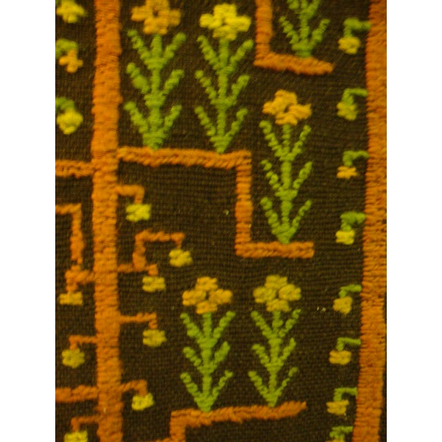 Mid-Century Woven Wool Tapestry - Image 4 of 6