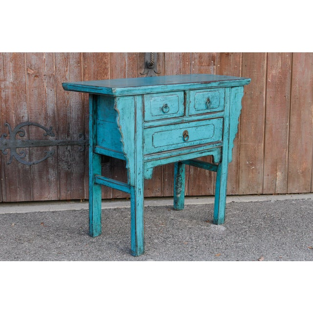 Beautiful Chinese Turquoise Altar Dresser For Sale - Image 4 of 9