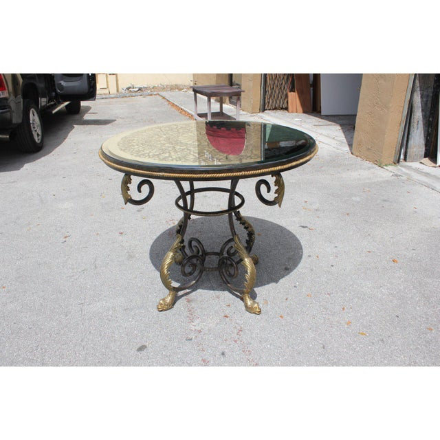 1950s 1950s French Art Deco Iron Center Table For Sale - Image 5 of 12