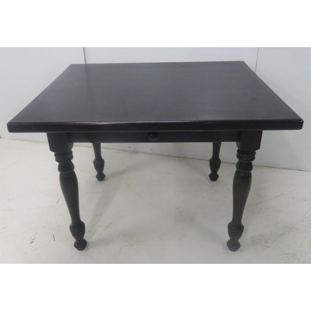 Country Country Paint Distressed Farm Table For Sale - Image 3 of 8
