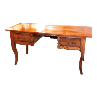19th Century French Provincial Fruitwood Writing Table Desk For Sale