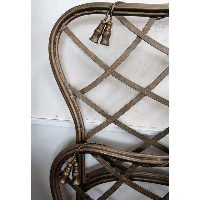 Art Nouveau 1990s Art Nouveau Iron Bow and Tassel King Bedframe For Sale - Image 3 of 11
