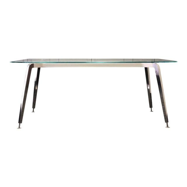 Daniel Korb Contemporary Glass and Aluminum Writing Desk For Sale