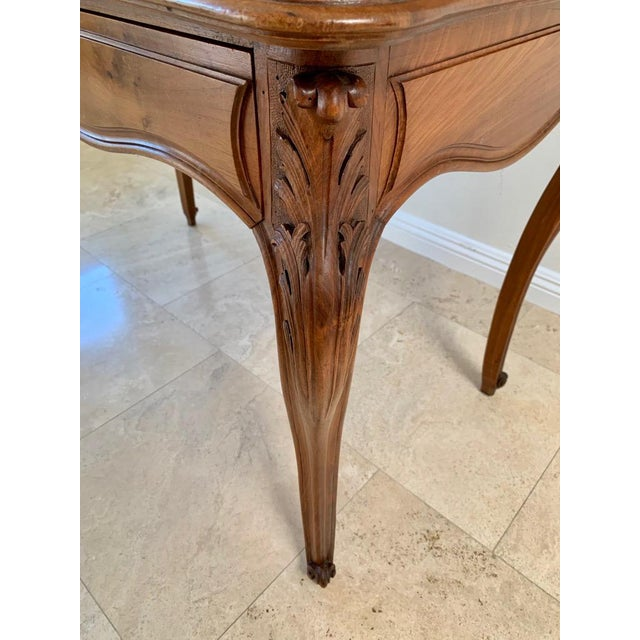 Antique French Walnut Tambour Top Desk For Sale - Image 12 of 13