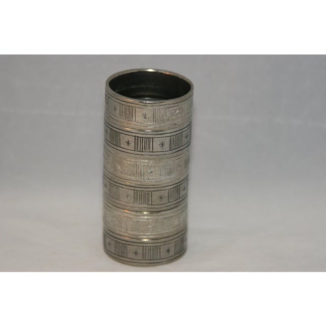 Mid 20th Century Artisan Hand Forged Norwegian Pewter Napkin Rings in Original Box - Set of 6 For Sale - Image 5 of 8