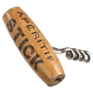 Vintage French Stick Apértif Corkscrew