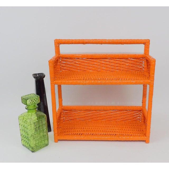 Orange Wicker Wall Shelf - Image 10 of 11