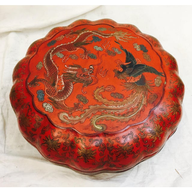 Antique Asian Sewing Box For Sale In Raleigh - Image 6 of 11