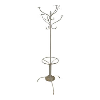 Vintage Cast and Wrought Iron Hall Tree For Sale