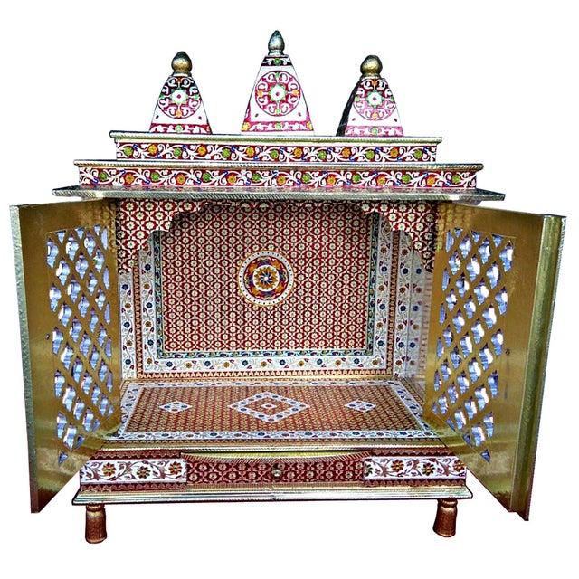 Meenakari Hindu Temple Mandapam Altar - Image 3 of 3
