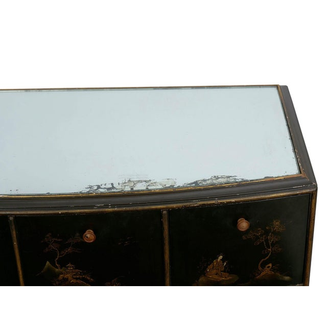 Art Deco Chinoiserie Mirrored Top Chest of Drawers Dresser Circa 1940s For Sale - Image 6 of 13
