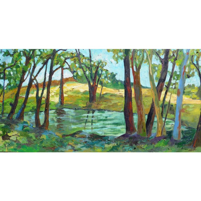 Contemporary Summer Landscape Painting - Image 1 of 5