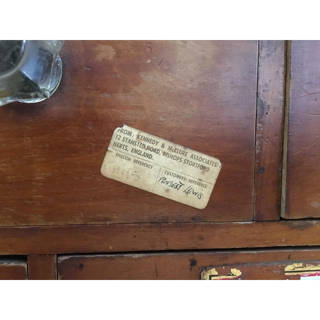 1800s English Apothecary Cabinet - Image 9 of 11