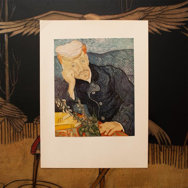 Modern 1950s Van Gogh, First Edition Lithograph After Portrait of Dr. Gachet For Sale - Image 3 of 8