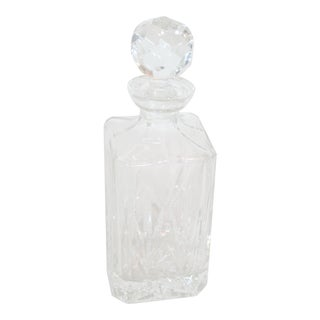 Crystal Faceted Square Decanter