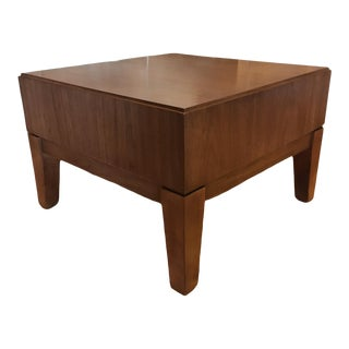 Contemporary Walnut Side Table by Kimball Furniture For Sale