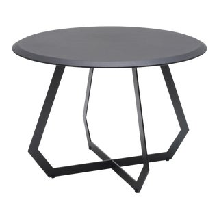 Contemporary Marie Burgos Table With Black Leather - Black For Sale