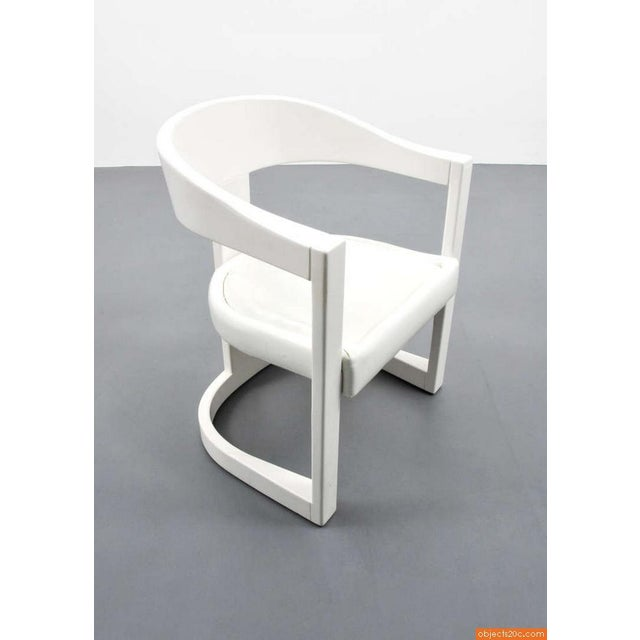 "Contemporary 1980s Vintage Karl Springer ""Onassis"" Arm Chairs- Set of 4 For Sale - Image 3 of 10"