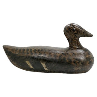 Antique Hand-Carved Duck Decoy For Sale