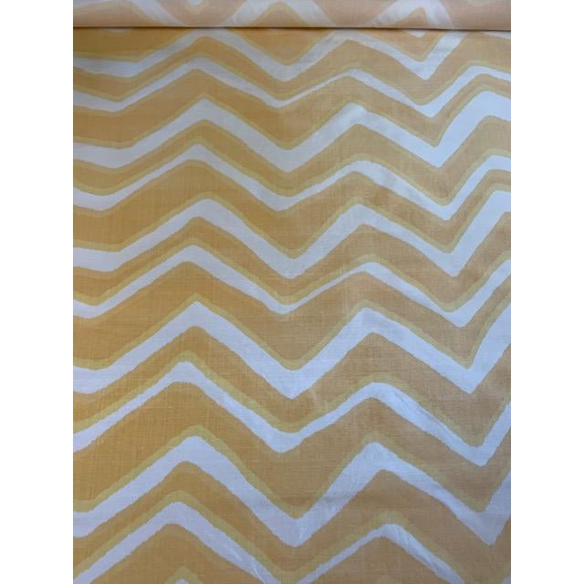 """Classic Brunschwig and Fils chevron silk fabric in Sunflower. Two tones of gorgeous yellow! Width: 50"""". Content: SILK -..."""