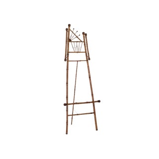 Mid Century Bamboo Art Easel For Sale