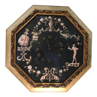 Large Vintage Octagonal Wall Clock