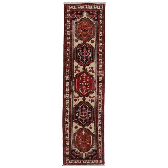 RugsinDallas Vintage Persian Ardebil Runner - 2′6″ × 9′7″ For Sale