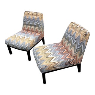 Vintage Edward Wormley Slipper Chairs - a Pair For Sale