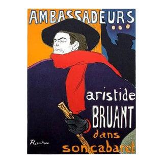 1966 Mourlot Toulouse Lautrec Ambassadeurs Lithograph 5 For Sale