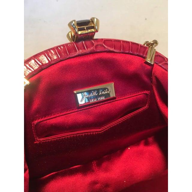 Metal Judith Leiber Small Red Alligator Handbag For Sale - Image 7 of 9