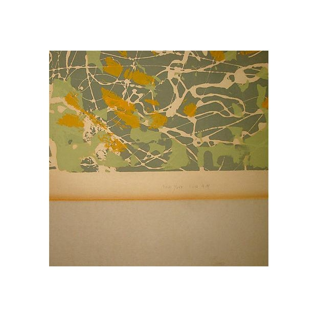 """Abstract Abstract Monoprint Painting, """"New York 1:00 Am,"""" 1976 For Sale - Image 3 of 7"""