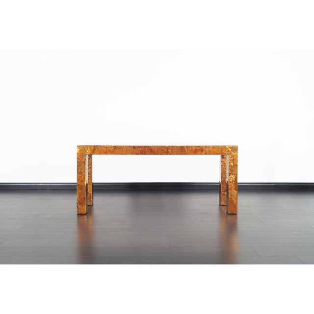 Metal 1970s Brutalist Copper Patchwork Console Table For Sale - Image 7 of 11