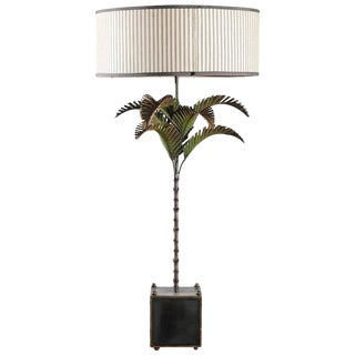 Italian Tole Palm Lamp