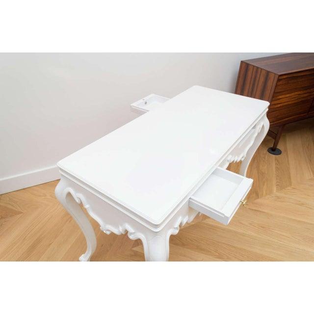 Italian Italian Lacquered Partner Desk For Sale - Image 3 of 10