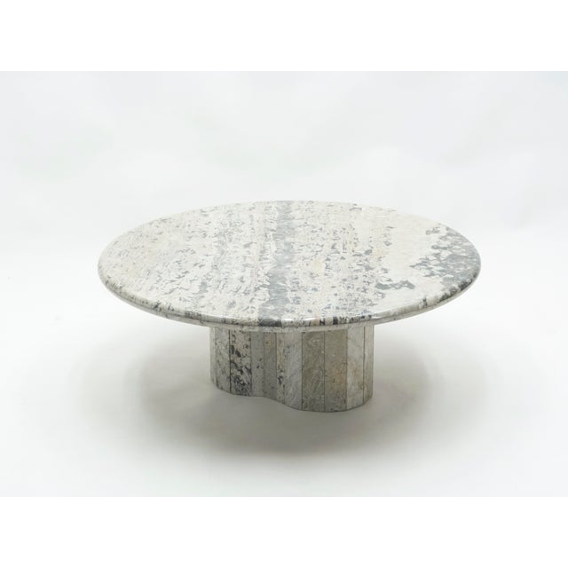 French Round Sicilian Marble Coffee Table For Sale - Image 13 of 13