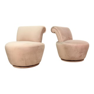 1970s Vintage Vladimir Kagan Swivel Chairs- A Pair For Sale