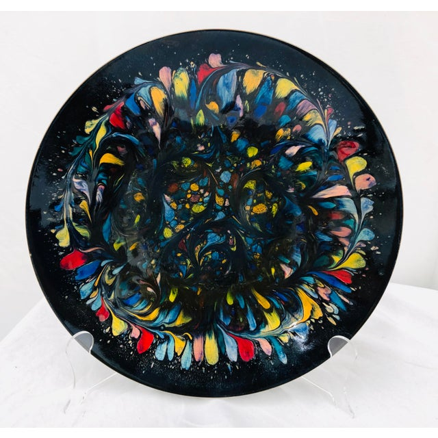 Vintage Handmade Enameled Dish For Sale - Image 4 of 11