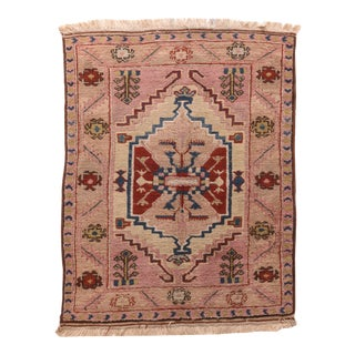 Vintage Turkish Tribal Rug For Sale