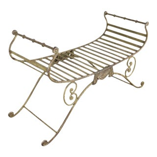 20th Century Italian Iron Bench For Sale
