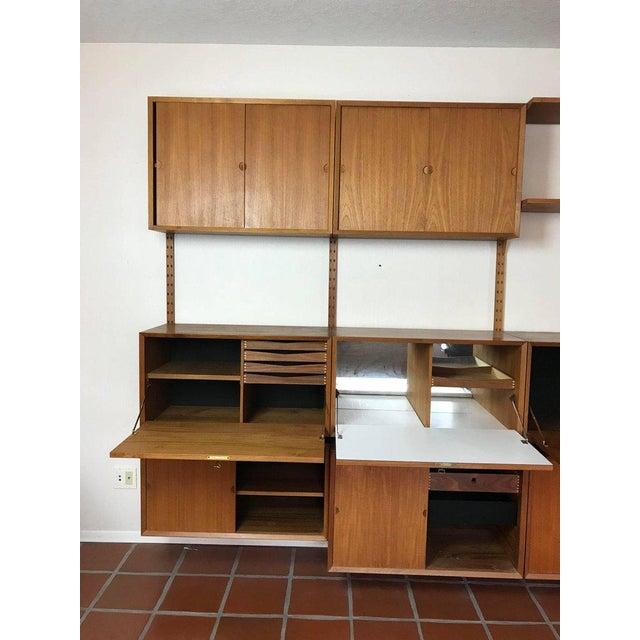 "1960s 1960s Danish Poul Cadovius ""System Cado"" Teak Floating Modular Wall Shelf System For Sale - Image 5 of 13"