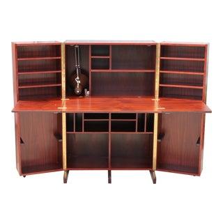 Norwegian Rosewood Hideaway Desk For Sale