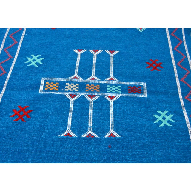 Blue Moroccan Silk Rug - 5'1'' x 3' - Image 3 of 4