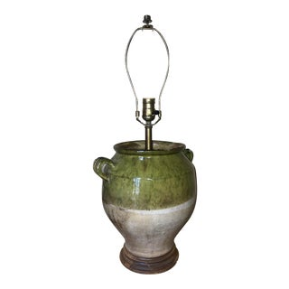 Mid 18th Century Green French Confit Jar Lamp For Sale