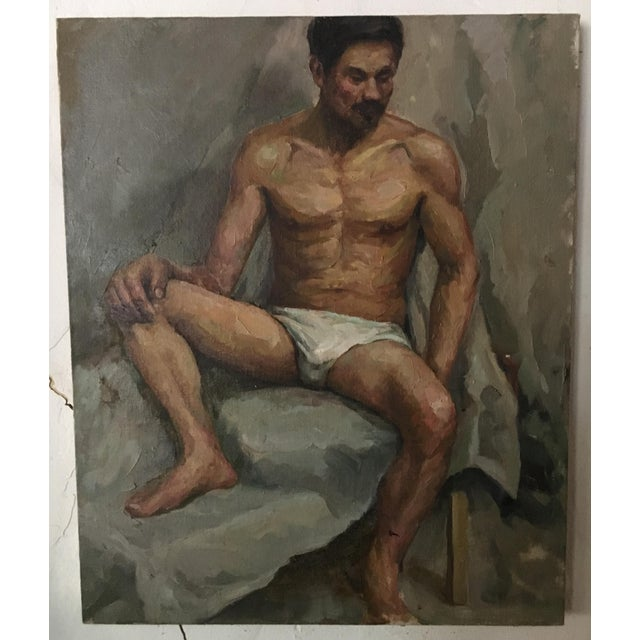 Male Nude Portrait Painting For Sale In Los Angeles - Image 6 of 6