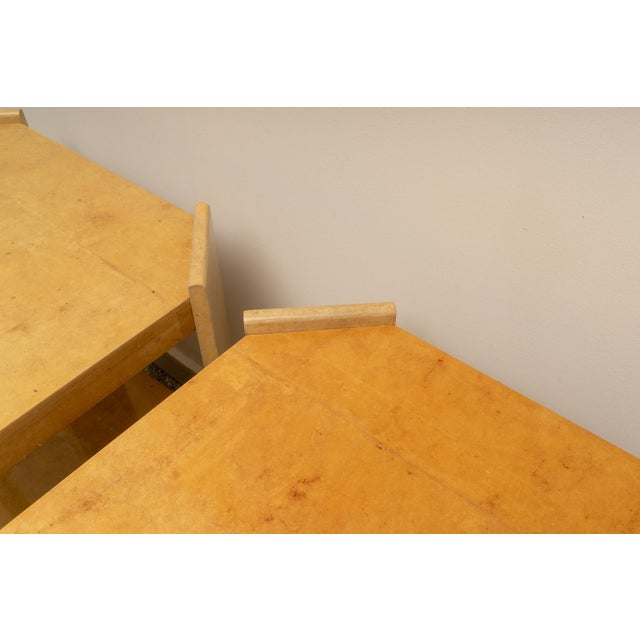Contemporary Modern Goatskin End Tables - a Pair For Sale - Image 3 of 10