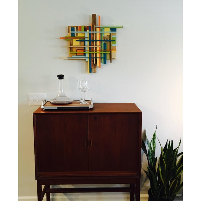Mid Century Inspired Wall Sculpture by Gabriel Buckley - Image 3 of 4