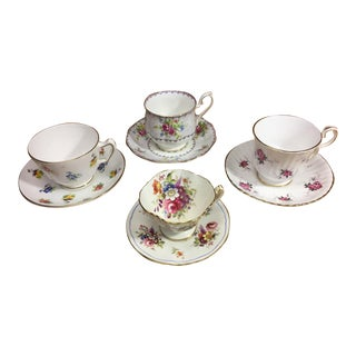 English Bone China Teacups - 8 piece Set