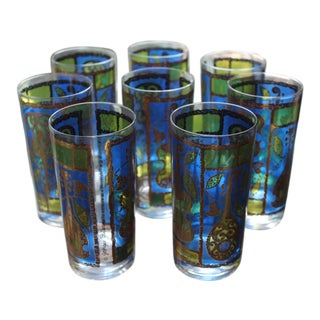 Georges Briard Vintage Highball Glasses - Set of 8 For Sale