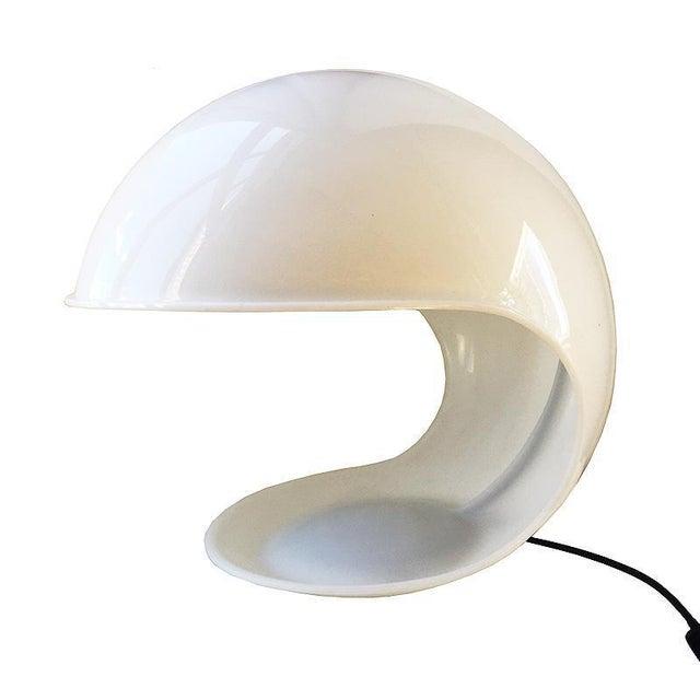White Martinelli Luce Foglia White Plastic Table Lamp For Sale - Image 8 of 8