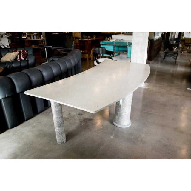 Concrete Desk, Italy, 1980s For Sale - Image 4 of 10